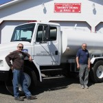 Chief Guy, along with Brian and Vito admiring our new Water Tender