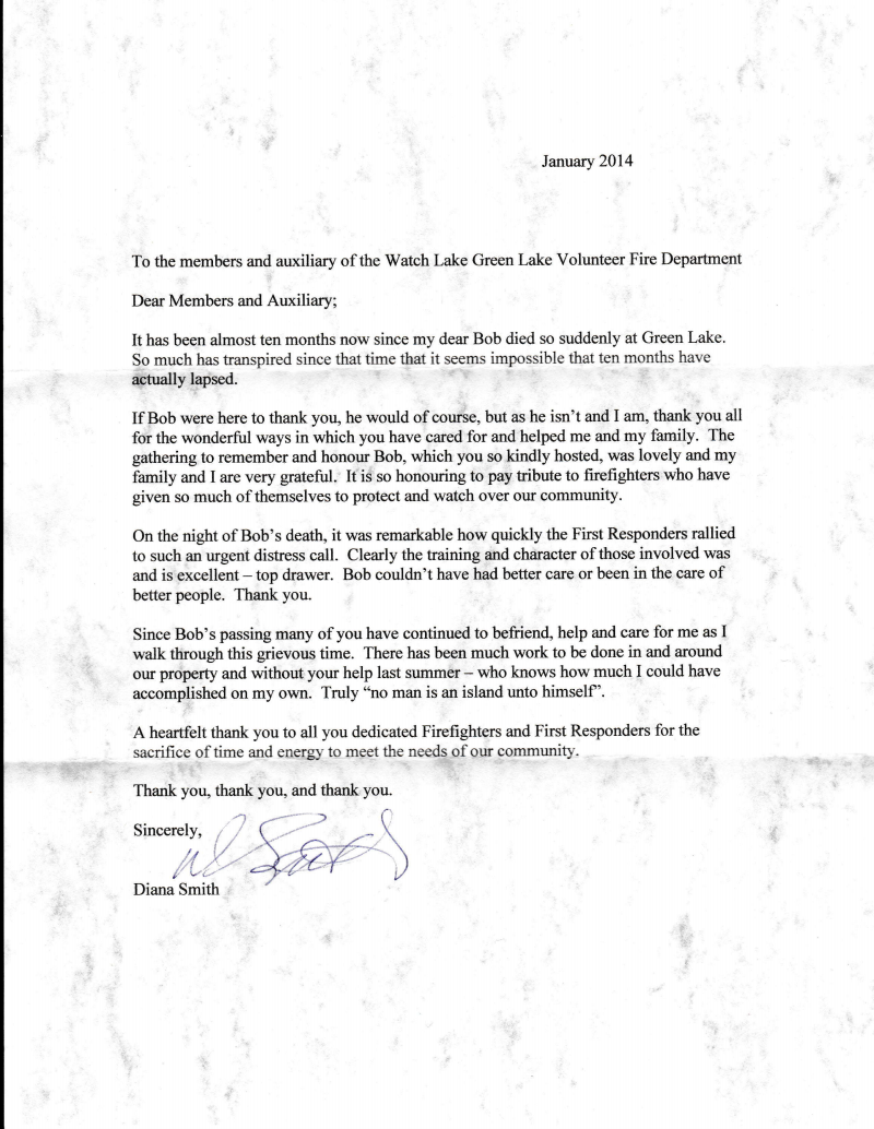 Heres a wonderful letter of appreciation to the fire dept watch d smith letter 3 thecheapjerseys Images